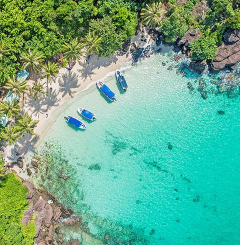 베트남 푸꾸옥 4개 섬 보트 호핑 투어 + 케이블카