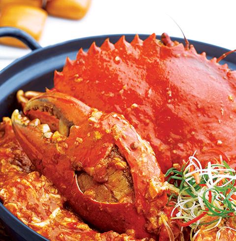 싱가포르 클락키 점보 레스토랑 시푸드 칠리크랩, 씨푸드 대표 맛집 (2인 세트)
