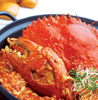 싱가포르 점보 시푸드 칠리크랩 2인 세트 (점심식사)