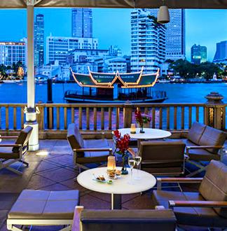방콕 페닌슐라 방콕 리버카페 앤 테라스 디너 레스토랑
