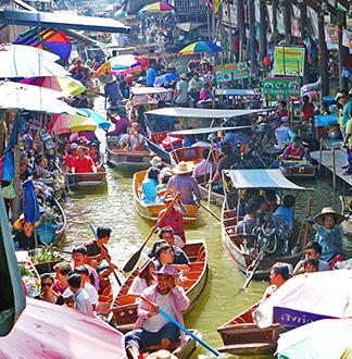 방콕 담넌사두억 반나절 투어 (한국어 가능 가이드 포함)