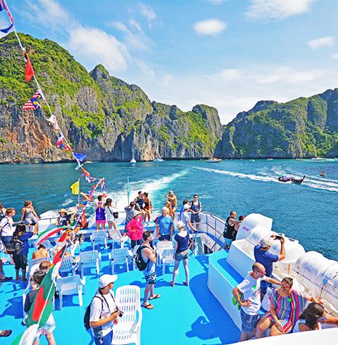 태국 푸켓여행 피피섬 여객선 티켓 + 1일 투어 (픽업/샌딩 포함)