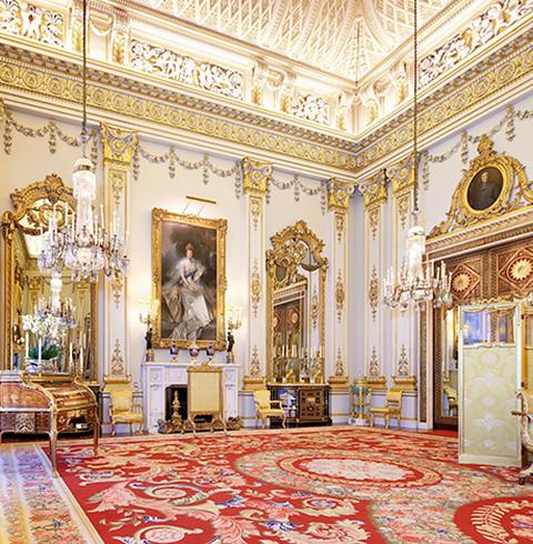 영국 런던 버킹엄 궁전 내부 입장권
