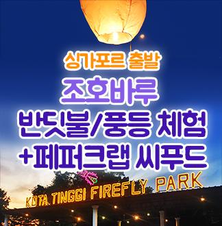 싱가포르출발 조호바루 반딧불/풍등 체험 투어 + 페퍼 크랩 씨푸드